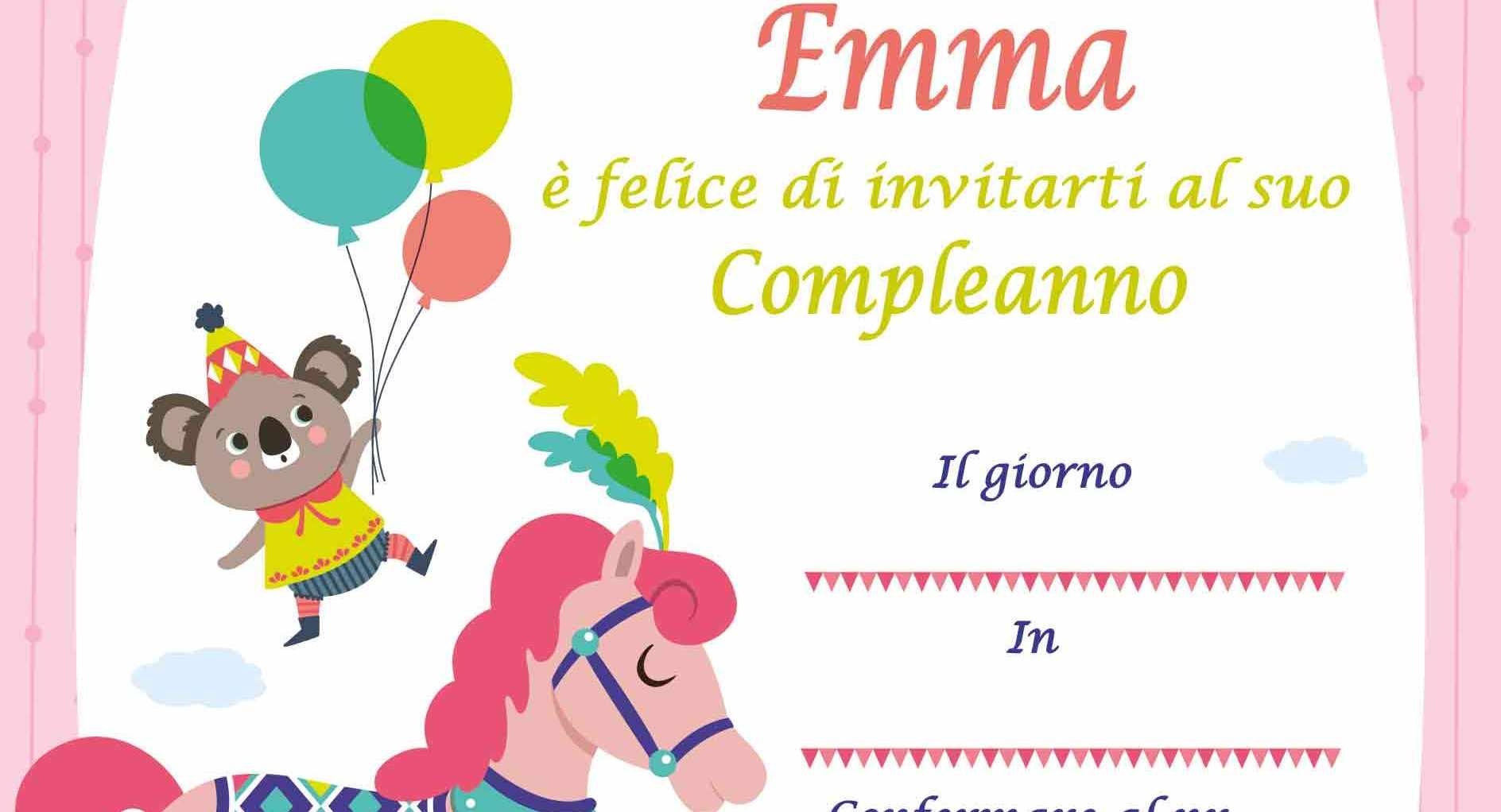 Biglietti Compleanno Da Stampare Emma Auguri Di Buon Compleanno