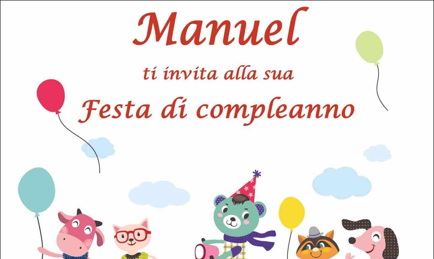 Biglietti Compleanno Da Stampare Manuel Buon Compleanno