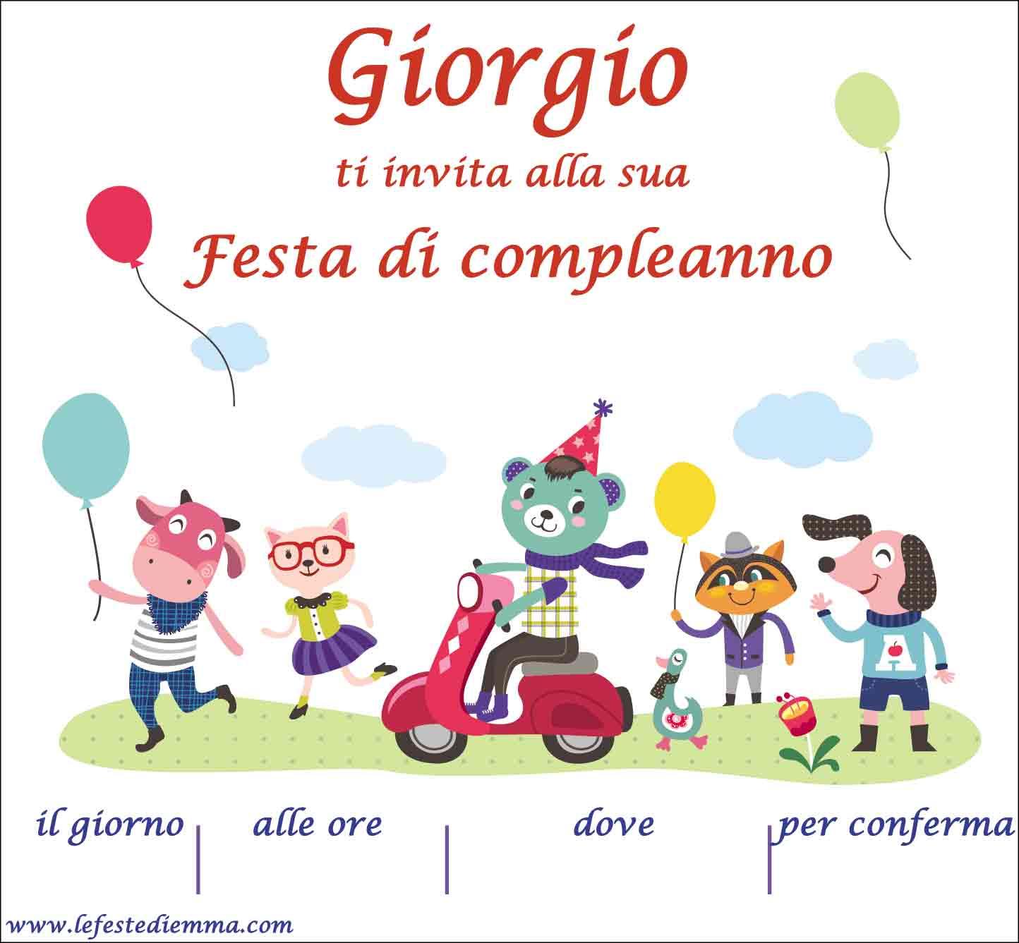 Inviti Di Compleanno Gratis Giorgio Buon Compleanno