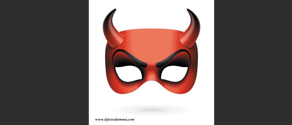 maschera del demonio