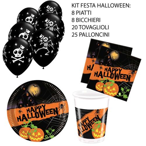 kit festa halloween con palloncini